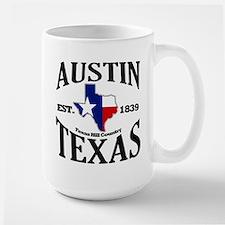 Austin, Texas - Texas Hill Country Towns Large Mug