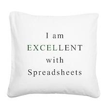 Excellent Spreadsheets Square Canvas Pillow