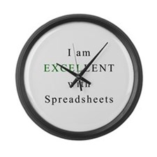 Excellent Spreadsheets Large Wall Clock