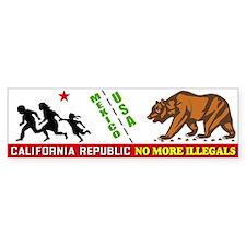 No More Illegals! Bumper Bumper Sticker