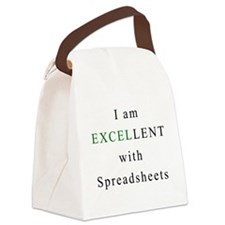 Excellent Spreadsheets Canvas Lunch Bag