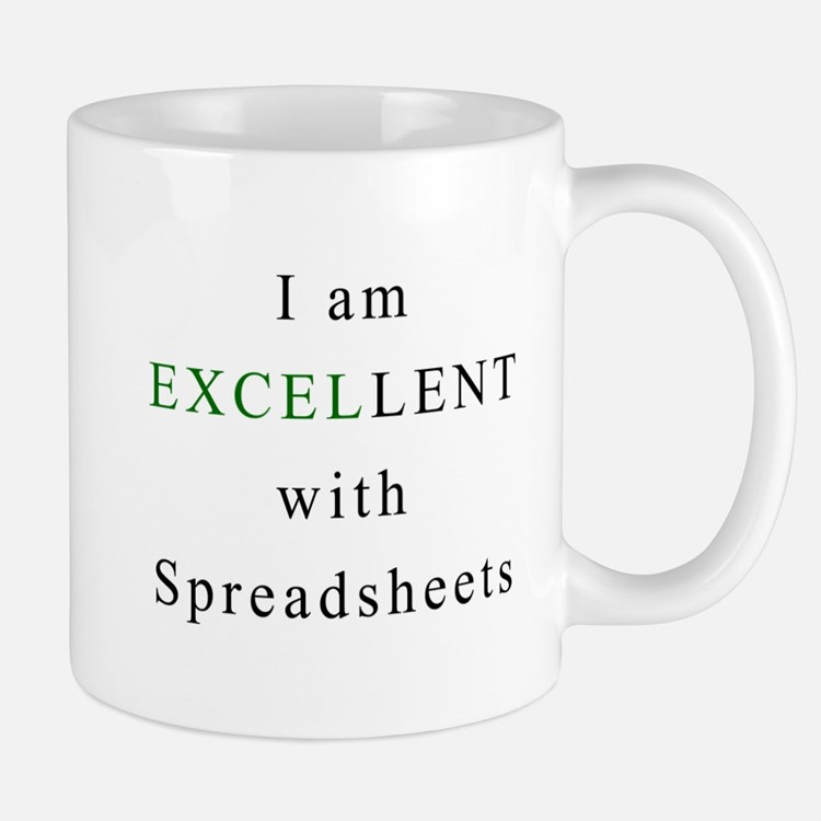 Excellent Spreadsheets Mug