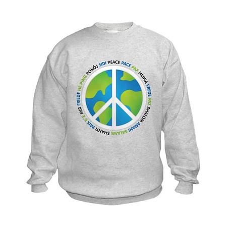 World Peace Sign Kids Sweatshirt
