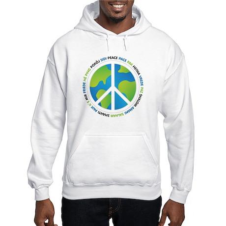 World Peace Sign Hooded Sweatshirt
