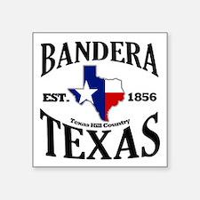 "Bandera, Texas Square Sticker 3"" x 3"""
