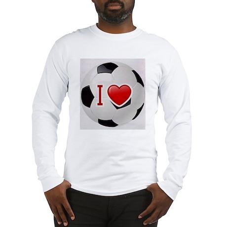 I Love Soccer Ball Long Sleeve T-Shirt