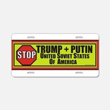 STOP TRUMP PUTIN Aluminum License Plate