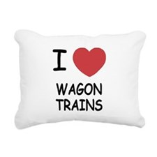 WAGON_TRAINS.png Rectangular Canvas Pillow