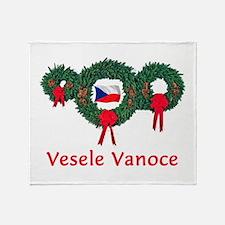 Czech Christmas 2 Throw Blanket