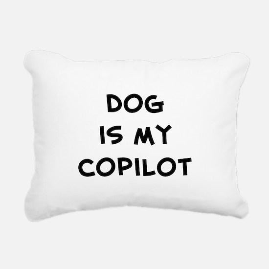 dogismycopilot.png Rectangular Canvas Pillow