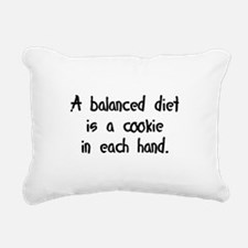 balancedcookiediet.png Rectangular Canvas Pillow