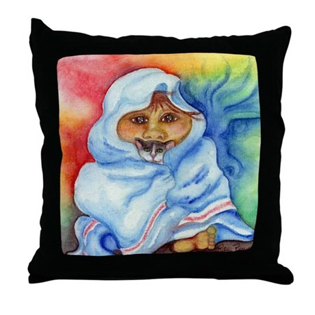 bed time story Throw Pillow