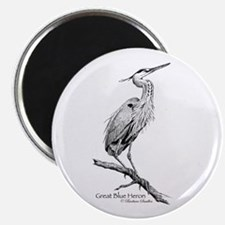 "Great Blue Heron 2.25"" Magnet (100 pack)"