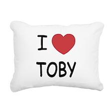 I heart TOBY Rectangular Canvas Pillow