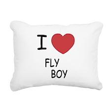 I heart FLYBOY Rectangular Canvas Pillow