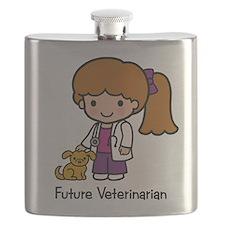 Future Veterinarian Girl Flask