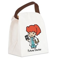 Future Doctor - girl Canvas Lunch Bag