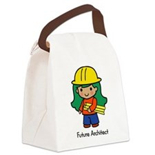 Future Architect - girl Canvas Lunch Bag