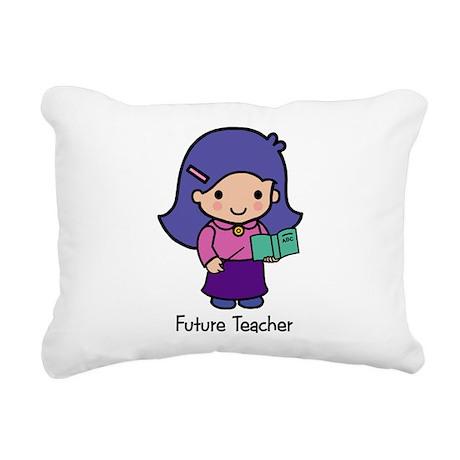 Future Teacher - girl Rectangular Canvas Pillow