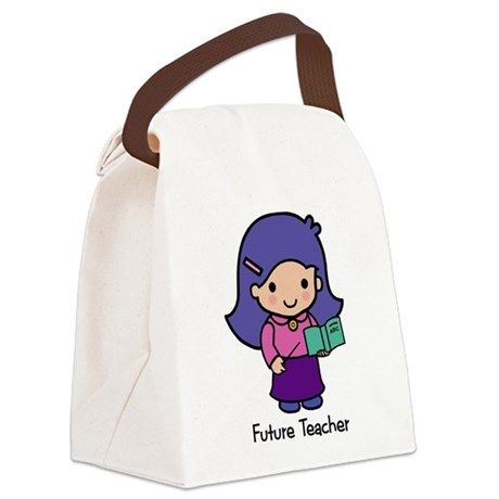Future Teacher - girl Canvas Lunch Bag