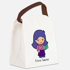 Future Teacher - girl Canvas Lunch Bag