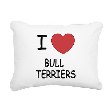BULLTERRIERS.png Rectangular Canvas Pillow