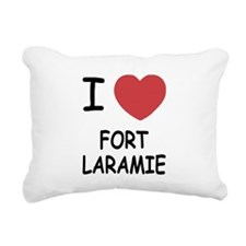 FORTLARAMIE.png Rectangular Canvas Pillow