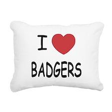 BADGERS.png Rectangular Canvas Pillow