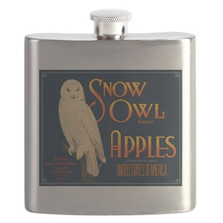 Snow Owl Apples Fruit Crate Flask