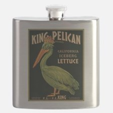 King Pelican Label Flask