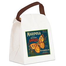 Mariposa Butterfly Fruit Crat Canvas Lunch Bag