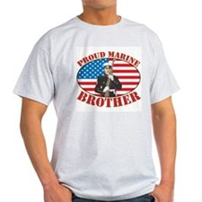 Proud Marine Brother Ash Grey T-Shirt