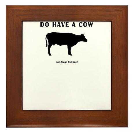 Do Have A Cow Framed Tile