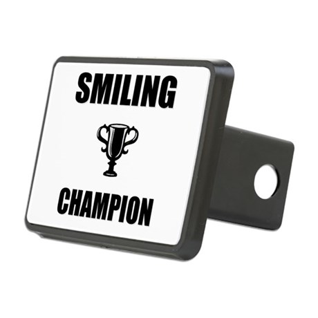 smiling champ Rectangular Hitch Cover
