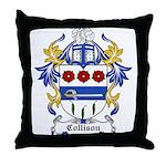 Collison Coat of Arms Throw Pillow