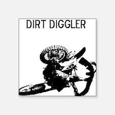 "motocross dirt diggler Square Sticker 3"" x 3"""