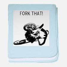 motocross fork that! baby blanket