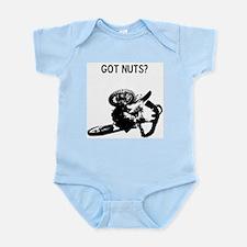 motocross got nuts Infant Bodysuit