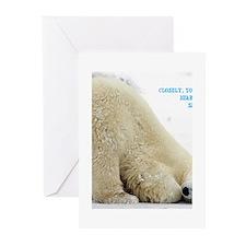santas sleigh Greeting Cards
