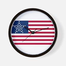 USA - 33 Stars - Great Star Version Wall Clock