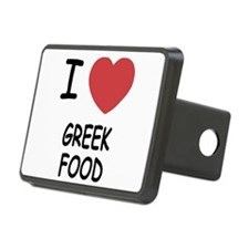 I heart greek food Hitch Cover