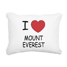 I heart mount everest Rectangular Canvas Pillow
