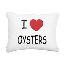 I heart oysters Rectangular Canvas Pillow