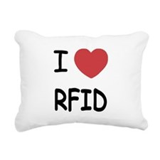 I heart rfid Rectangular Canvas Pillow
