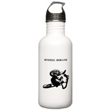 motocross grow a pair Water Bottle