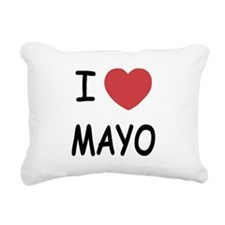I heart mayo Rectangular Canvas Pillow