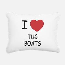 I heart tug boats Rectangular Canvas Pillow