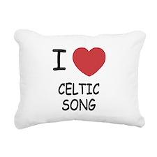 I heart celtic song Rectangular Canvas Pillow