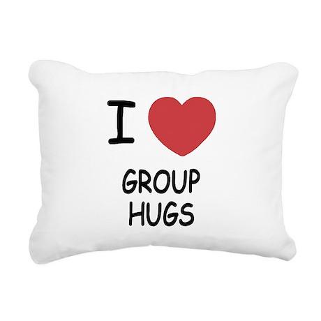 I heart group hugs Rectangular Canvas Pillow