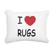 I heart rugs Rectangular Canvas Pillow